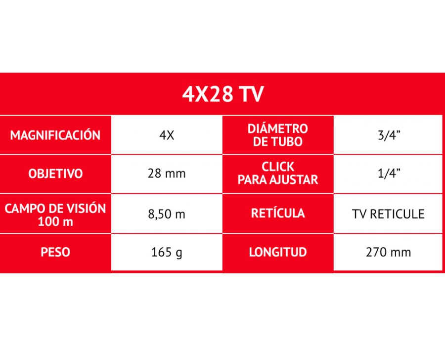 Visor gamo 4 x 28 TV