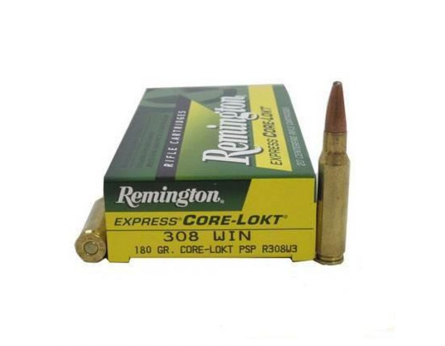 Balas Remington Core Lokt - 308 Win - 180 grs - Punta plomo PSP