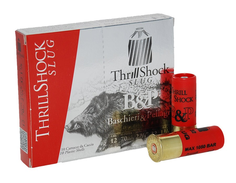 Cartucho bala Baschieri & Pellagri Thrill Shock calibre 12 - 32 gramos