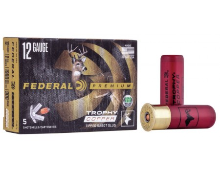 Cartucho Bala Federal Trophy Cooper Sabot Slug - Calibre 12