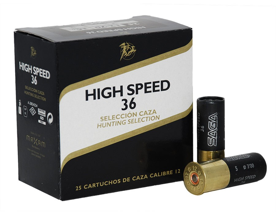 Cartuchos de caza Saga High Speed - Calibre 12 - 36 gr