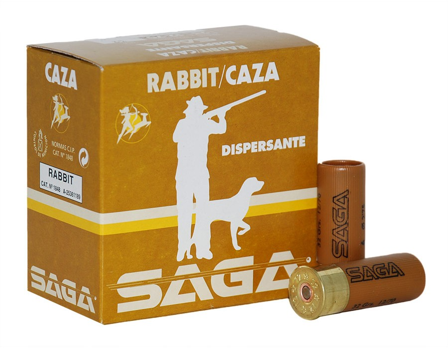 Cartuchos de caza Saga Rabbit Dispersante - Calibre 12 - 32 gr