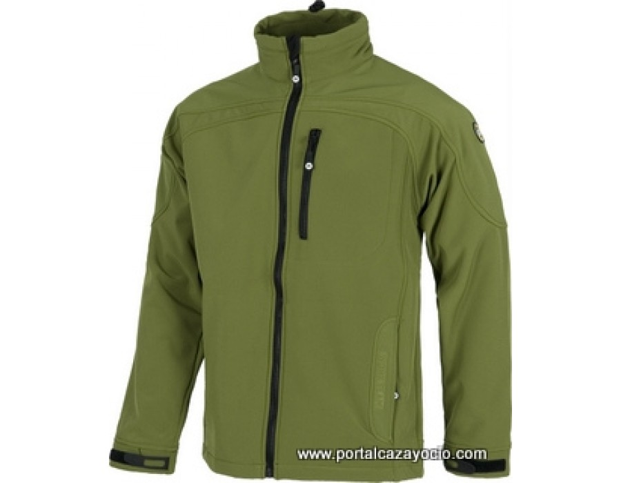 Chaqueta senderismo lisa workshell impermeable