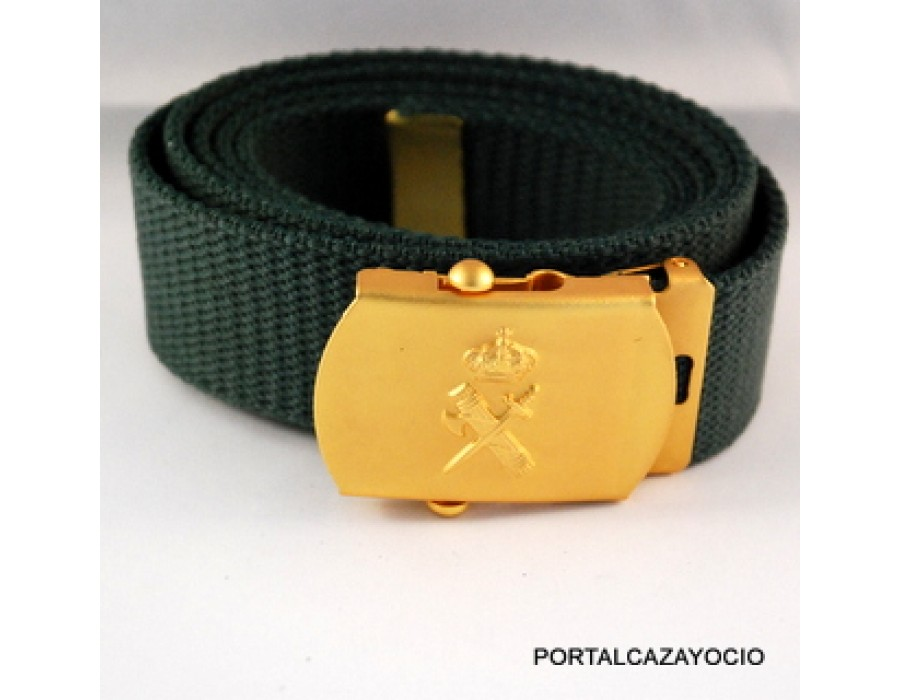 Cinturón de nylon ajustable escudo Guardia Civil