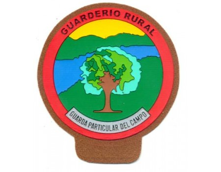 Emblema guarda rural campo marron pvc pecho