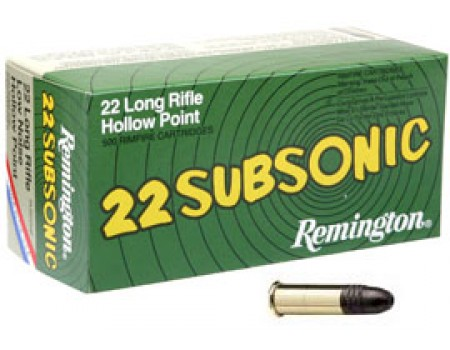 Balas calibre 22 remington modelo subsonic