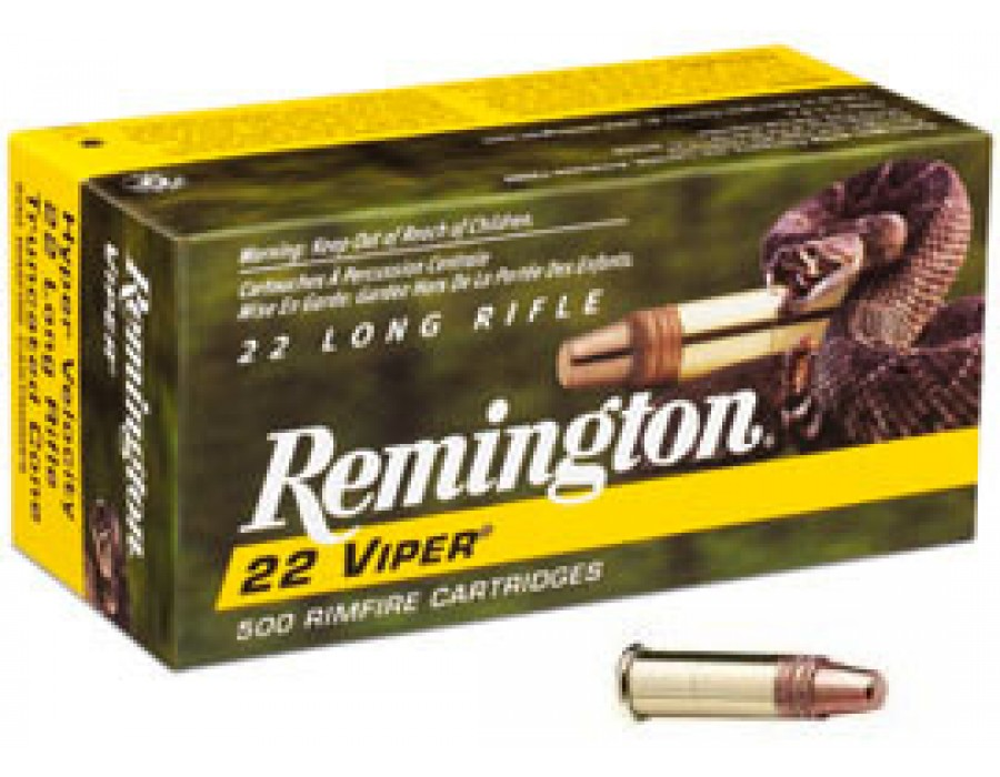 Municion calibre 22 remington modelo viper