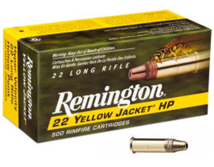 Municion calibre 22 remington modelo yellow jacket o avispa