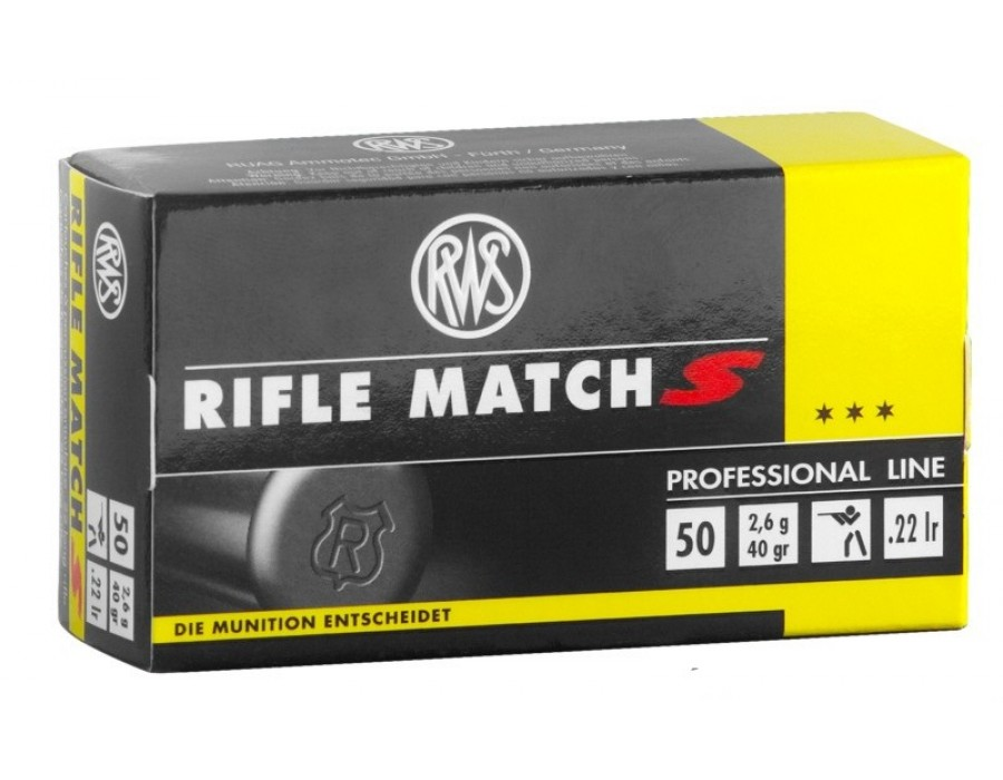 Balas Rws rifle match s calibre 22 lr