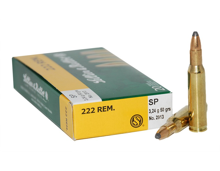 Balas Sellier & Bellot - 222 Rem - 50 grs - Soft Point