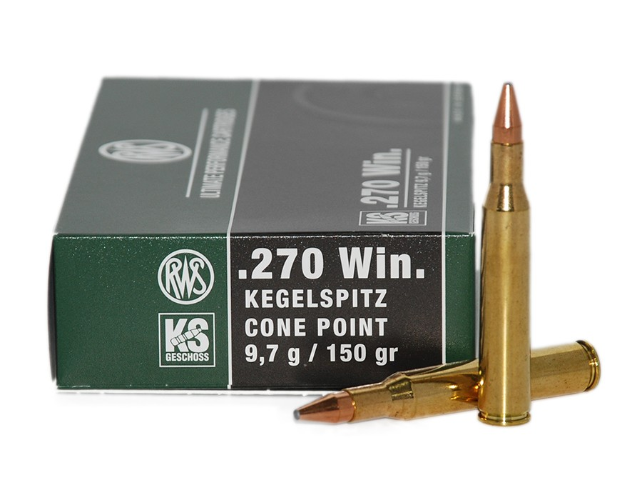 Balas RWS KS (Kegelspitz) - 270 win - 150 grs - Cone Point
