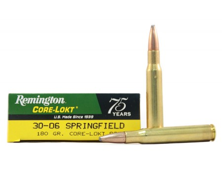 Balas Remington Core Lokt - 30.06 - 180 grs - Punta PSP