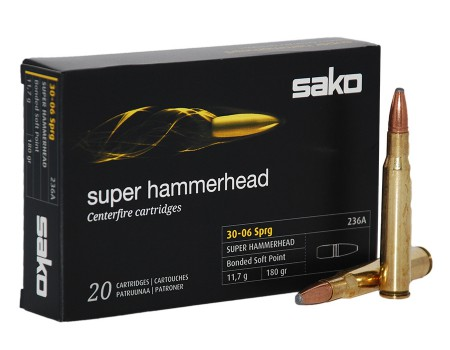 Balas Sako Super Hammerhead - 30.06 - 180 grs - Soft Point
