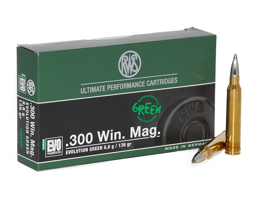 Balas RWS - Evo (Evolution) Green - 300 win mag - 136 grs