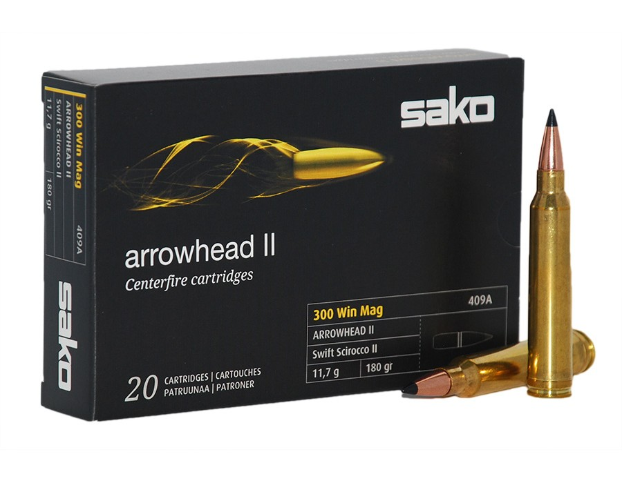 Balas Sako Arrowhead II - 300 Win Mag - 180 grs - Soft Point (caja de 10 unidades)