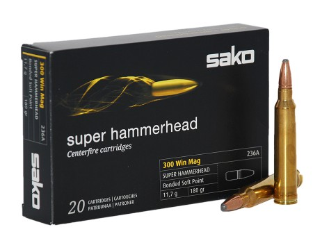 Balas Sako Super Hammerhead - 300 Win Mag - 180 grs - Soft Point