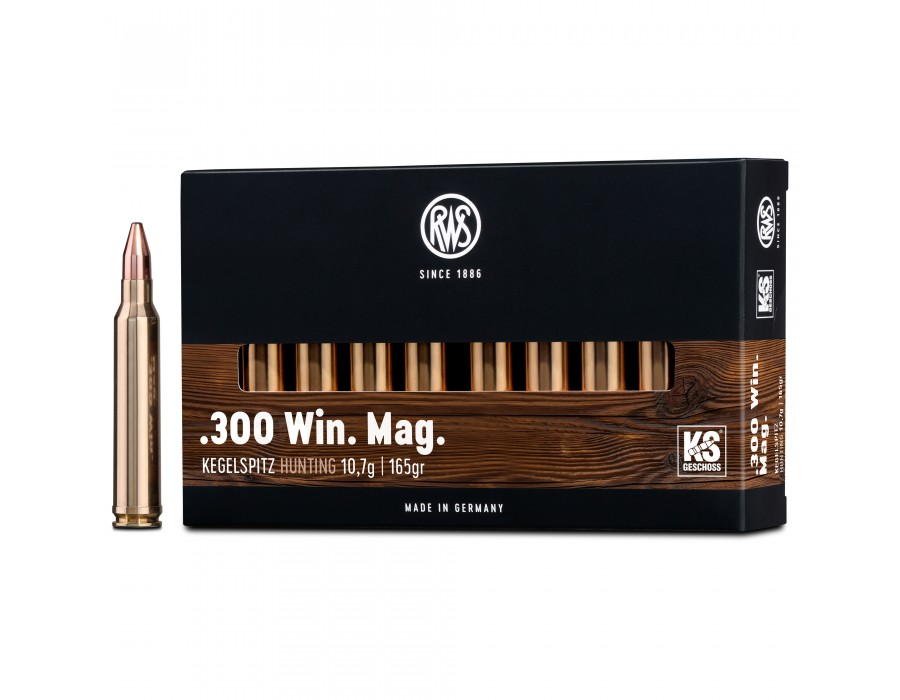 Balas RWS KS (Kegelspitz) - 300 win mag - 165 grs - Cone Point