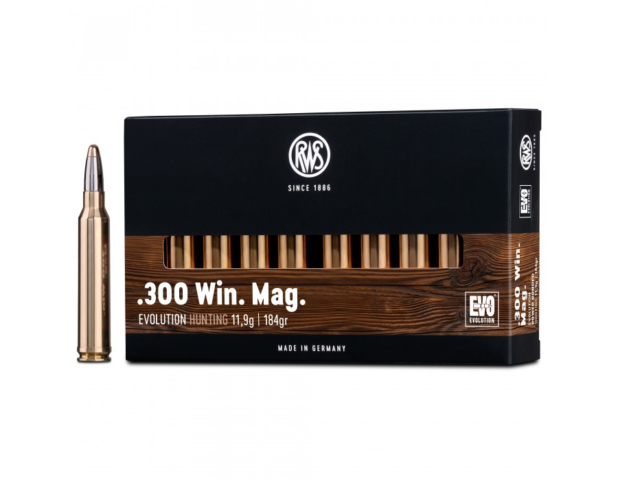 Balas RWS EVO (Evolution) - 300 win mag - 184 grs - Power Bonded