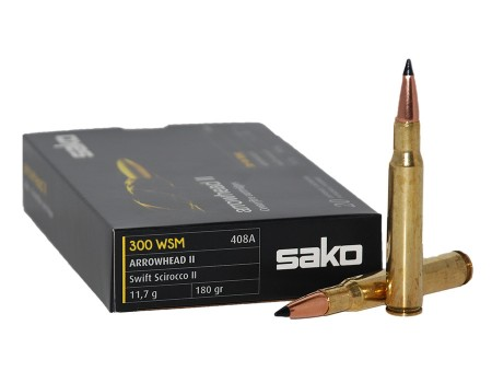 Balas Sako Arrowhead II - 300 WSM - 180 grs - Soft Point -10 unidades