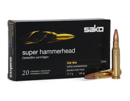 Balas Sako Super Hammerhead - 308 Win - 180 grs - Bonded Soft Point