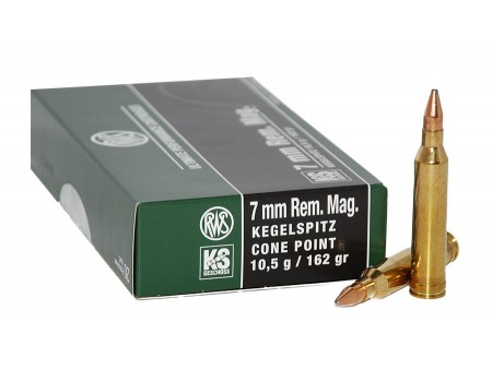 Balas RWS KS (Kegelspitz) - 7 mm win mag - 162 grs - Cone Point