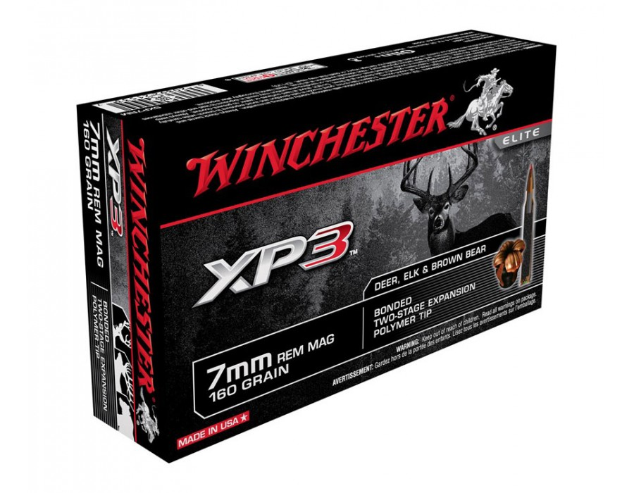 Balas Winchester XP3 - 7mm Win Mag - 160 grs