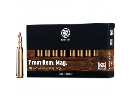 Balas RWS KS (Kegelspitz) - 7 mm Rem mag - 162 grs - Cone Point