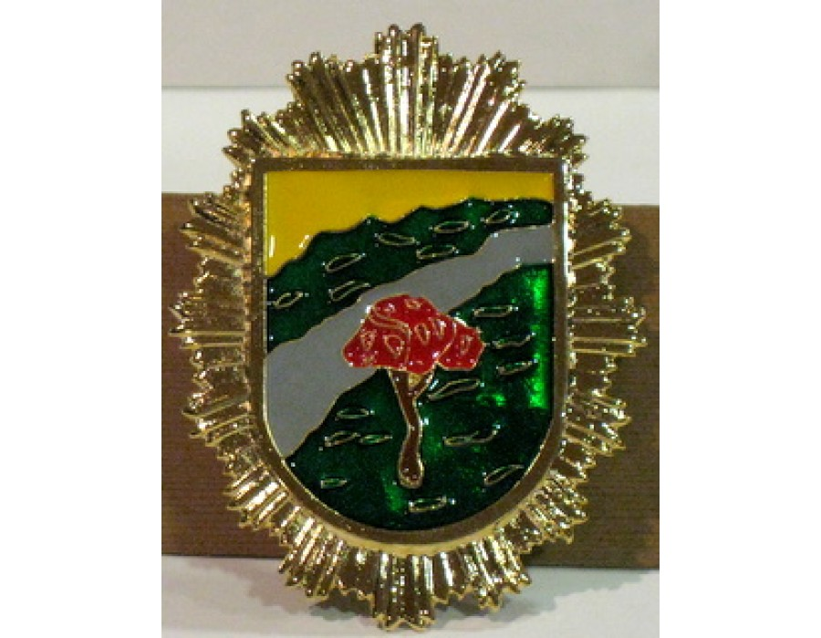 Placa cartera guarda forestal marron