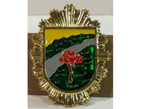 Placa pecho guarda forestal marron