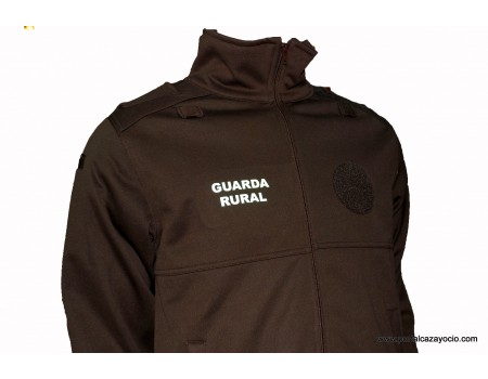 Cazadora polar para guarda rural - Marrón - Softshell