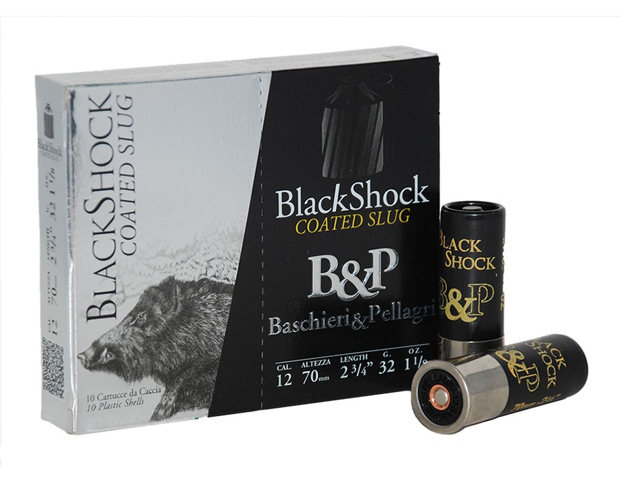 Cartucho bala Baschieri & Pellagri Black Shock calibre 12 - 32 gramos