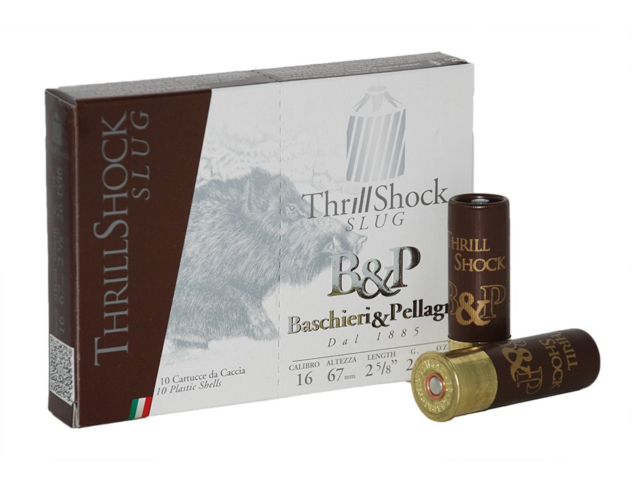 Cartucho bala Baschieri & Pellagri Thrill Shock calibre 16 - 26 gramos
